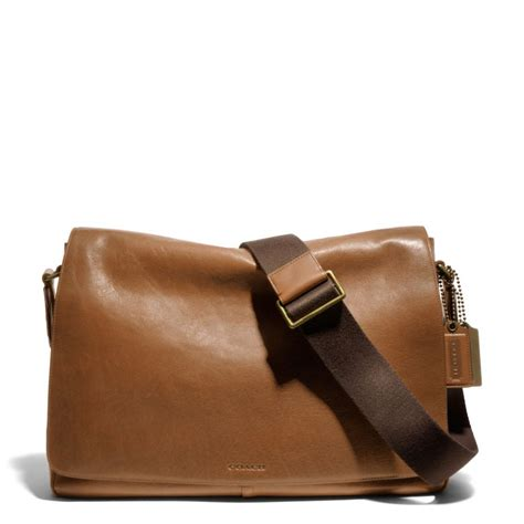 The Coach Bleecker Tattersall Shopping Bag by Coach Bleecker Legacy Courier Bag In Leather In Brown For