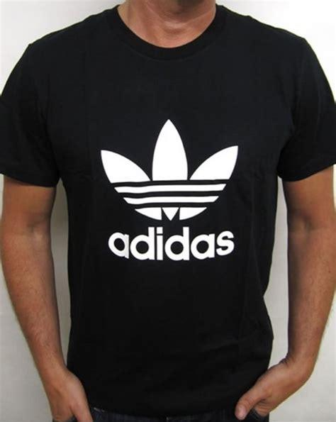 Adidas Logo Black Tshirt adidas originals trefoil t shirt with large logo black
