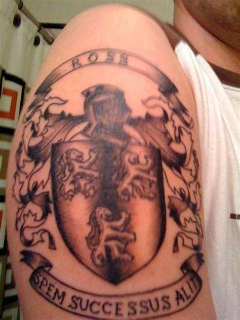tattoo galleries family crest coat of arms family crest tattoo on shoulder tattoos