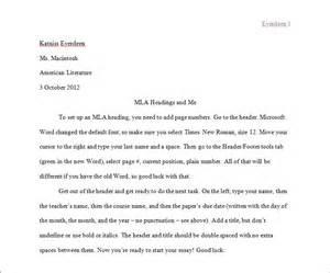 Essay Format Mla by Mla Essay Header