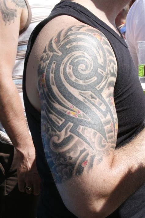 cloud tribal tattoo design on sleeves for men http
