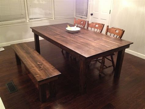 Farmhouse Dining Room Table custom farmhouse dining table by gypsum valley made