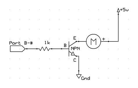 transistor npn motor npn motor driver circuit