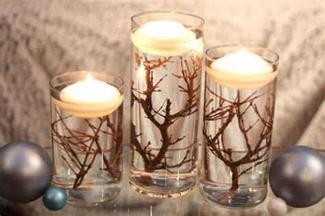 wintry floating candle centerpieces jewish journal