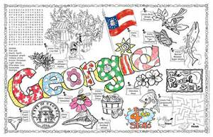 gallopade international georgia symbols amp facts funsheet