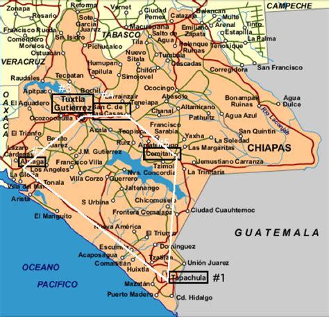 map of mexico chiapas chiapas trip 2010