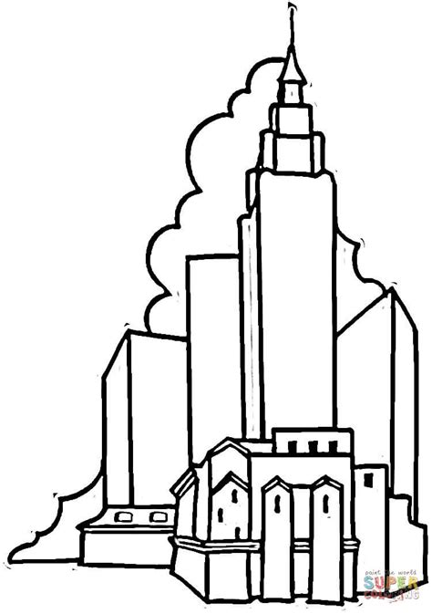 empire state building coloring page free printable
