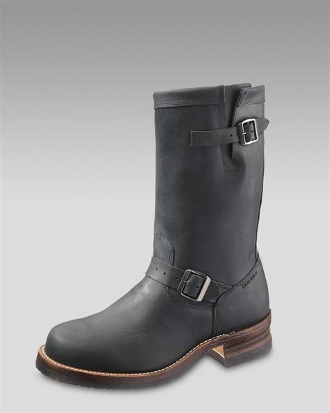 engineer boots wolverine stockton engineer boot in black for lyst