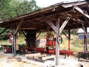 wooden sawmill sawmilling logs