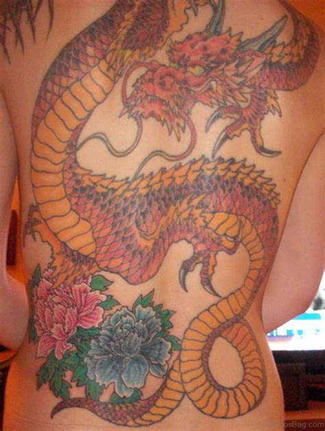 tattoo dragon and flower 77 graceful dragon tattoos for back