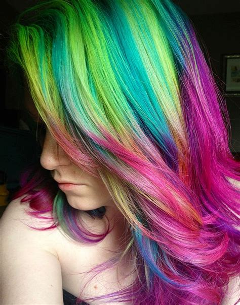 rainbow hair colors 2014 ombre highlights trend 30 rainbow colored