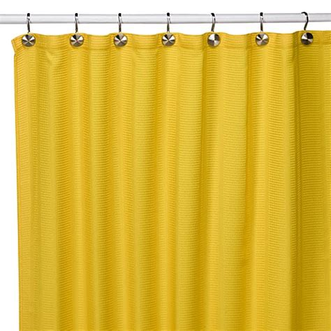 yellow fabric shower curtains weston yellow fabric shower curtain bed bath beyond