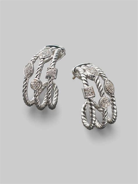 david yurman sterling silver open cable earrings