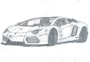 Lamborghini Drawing How To Draw Lambo Aventador