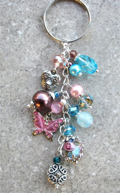 bead keychain pin by bishop on jewelry