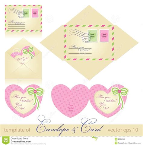 Greeting Card Envelope Template Mailing by Envelope And Greeting Card Stock Vector Illustration Of