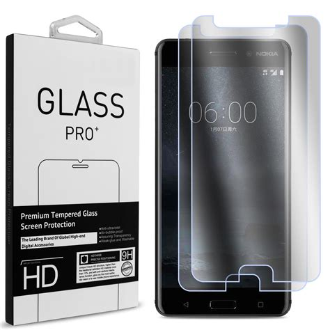 Premium Tempered Glass Warna Nokia 5 Cover 2 pack for nokia 6 clear tempered glass screen protector 9h anti scratch hd ebay
