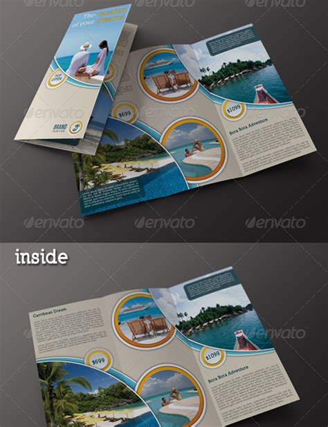 How To Make A Travel Brochure With Paper - 40 best travel and tourist brochure design templates 2016