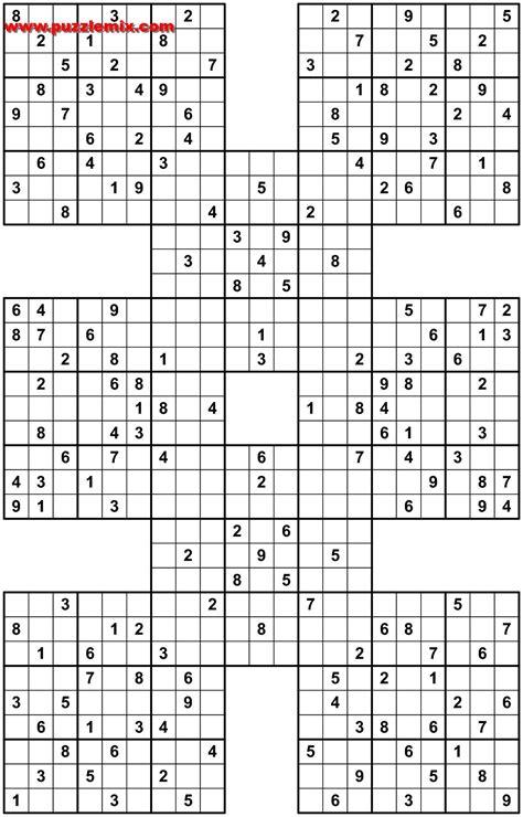 printable samurai sudoku grid mega samurai sudoku pdf