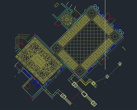 Marble Flooring patterns cad drawings