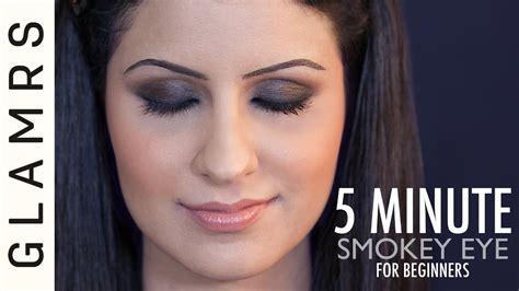 eyeliner tutorial glamrs easy 5 minute smokey eye makeup tutorial youtube