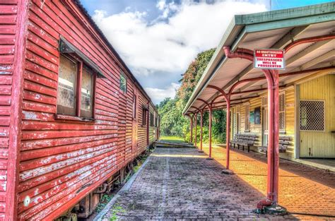 abandoned train station located  atherton  north