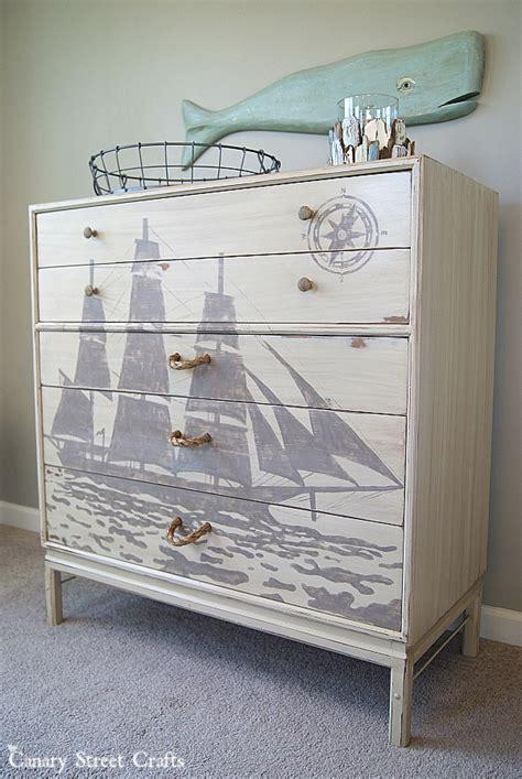 nautical themed bedroom furniture nautical dresser makeover diy furniture makeovers