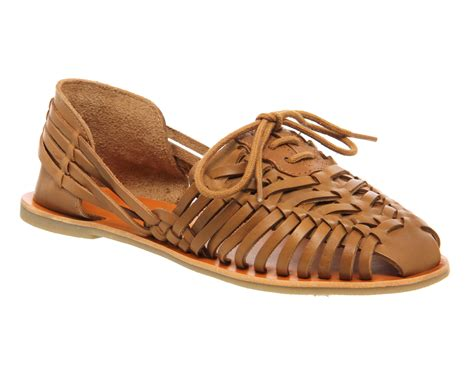 womens office lace up woven shoes leather sandals