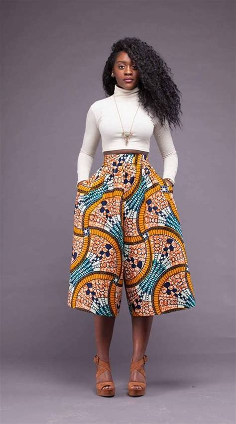 images of turtle neck ankara tops how to rock the ankara culottes