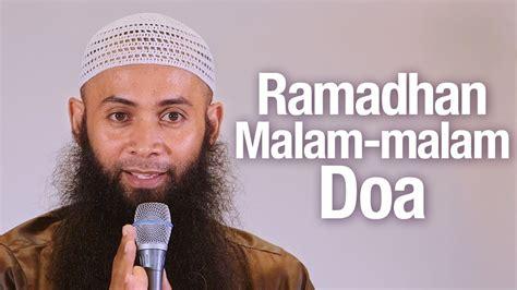Dr Malam ramadhan malam malam doa ustadz dr syafiq reza