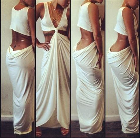 Dress Jersey Grade A Pecah 6 white dress with gold chain dress uk