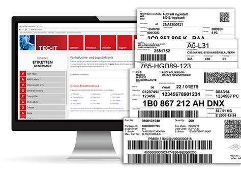 Label Drucken Online by Barcode Etiketten Online Erstellen Und Drucken Trendkraft