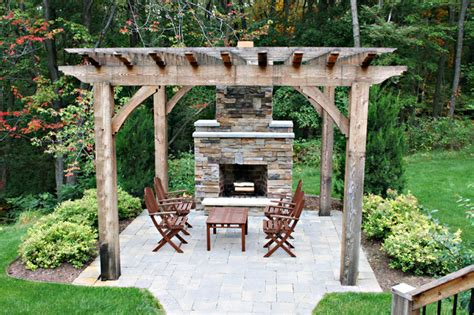 Houzz Outdoor Patios by Outdoor Fireplace Traditional Patio Other Metro By