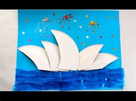 craft paper australia how to make a sydney opera house collage