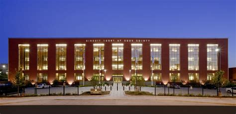 Chicago Court Records Four Story Cook County Domestic Violence Courthouse Seeks Leed 174 Silver