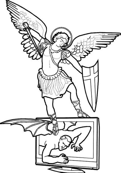 St Michael Coloring Page free coloring pages of st michael archangel