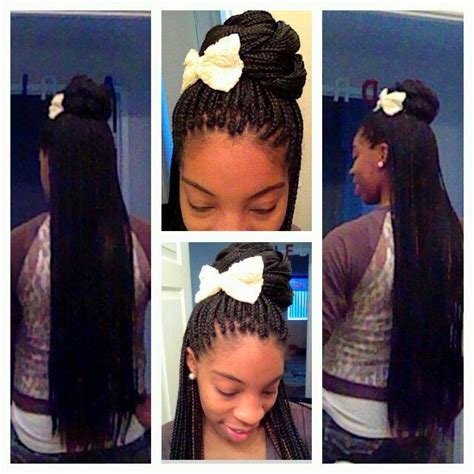 how to put up box braids in a ponytail half up half down box braid style love me so naturally