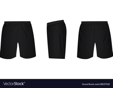 Black Shorts Template Royalty Free Vector Image Board Shorts Template