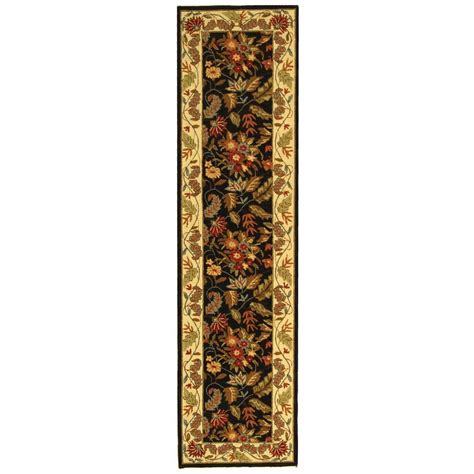 safavieh chelsea black 2 ft 6 in x 10 ft rug runner