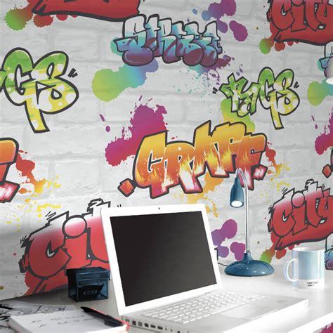 graffiti wallpaper room rasch urban graffiti wallpaper in white 272901