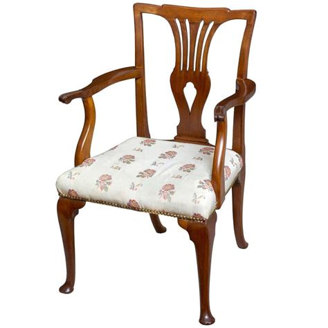 queen anne armchairs queen anne mahogany armchair on cabriole pad feet english