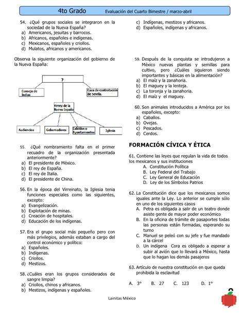 examen de segundo de primaria cuarto bloque 2015 2016 examenes segundo bimestre 2015 2016 examen de primer grado