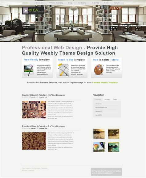 weebly themes weebly templates musa theme divtag