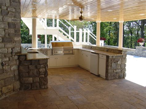 Kitchen Cabinets Colors 2014 outdoor kitchen under a deck soleic outdoor kitchens