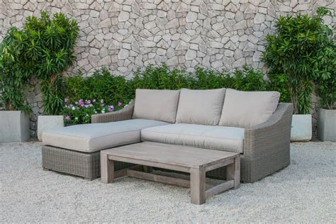 sectional vs sofa set renava seacliff outdoor wicker sectional sofa set outdoor