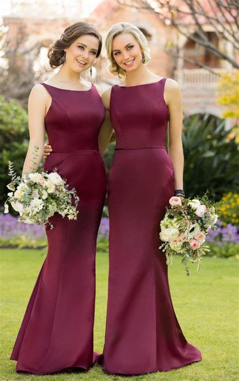 Wedding Dresses Bridesmaids Gowns by Best 25 Maroon Bridesmaid Dresses Ideas On