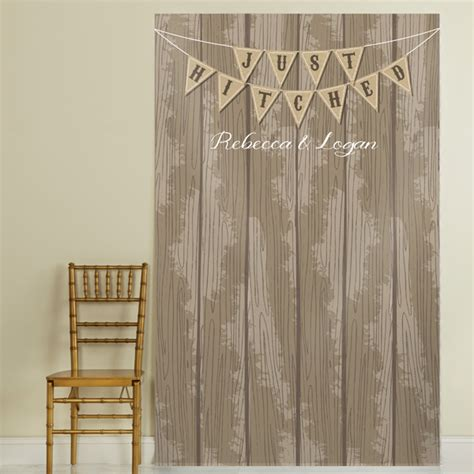 backdrop design for photo booth personalized just hitched barn siding photo booth backdrop