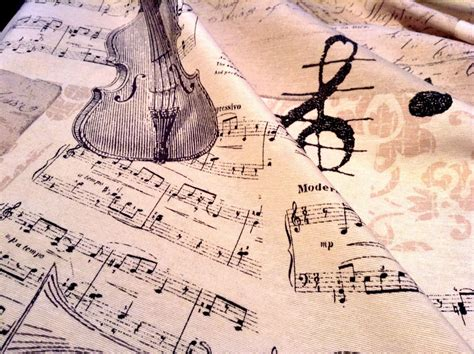 Music Notes Designer Curtain Upholstery Cotton Fabric
