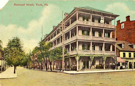 York Pa Civil Search National Hotel York Pa Vintage Postcard Visit Pa Country
