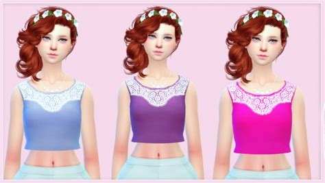 sims 4 custom content top sims 4 downloads simlife new crop top sims 4 downloads